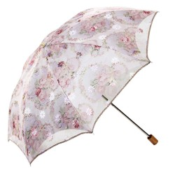 femme pliant parapluies dentelles deux couches parasol parapluie anti uv. Black Bedroom Furniture Sets. Home Design Ideas