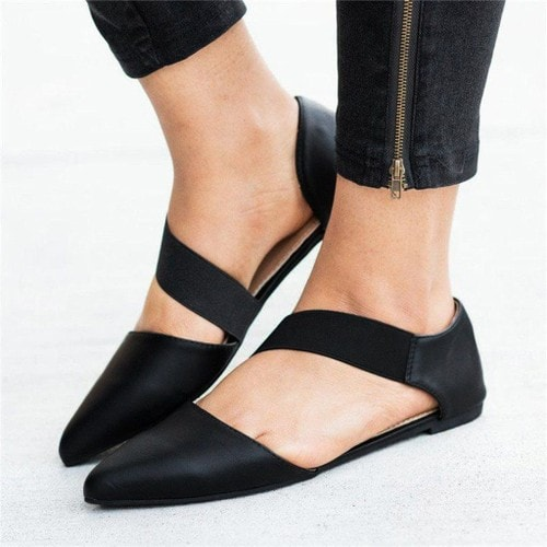 new product 6892c 5c210 femmes-mode-femmes-toe-sandales-plates-pointu-casual-chaussures-simples-noir -1253711221 L.jpg