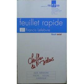 9c55509f685 Feuillet Rapide F. Lefebvre N° 1709   Feuillet Rapide. Chiffres Et Délais. Aide  Mémoire Fiscal Social Juridique