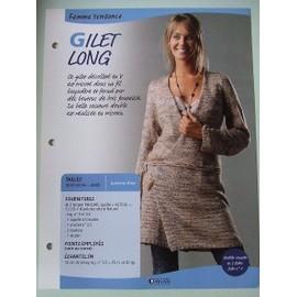 comment tricoter un gilet long