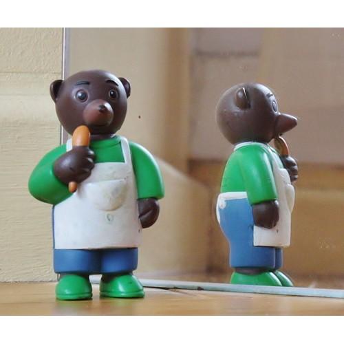 Figurine De Petit Ours Brun Petit Boulanger Achat Et Vente