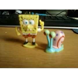 Figurine kinder bob l 39 ponge et son escargot gary rakuten - Gary l escargot ...
