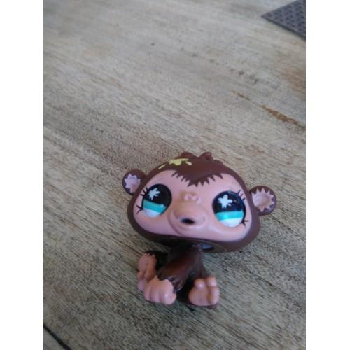 Figurine littlest petshop singe b b marron aux yeux - Petshop singe ...