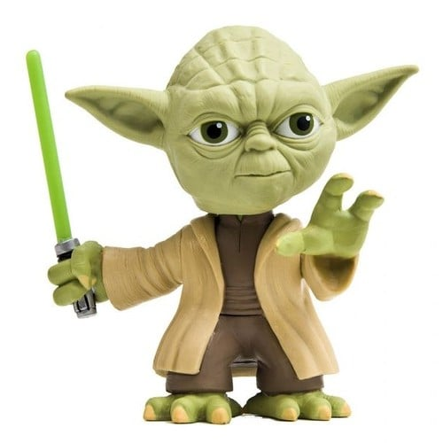 figurine maitre yoda t te mobile star wars a. Black Bedroom Furniture Sets. Home Design Ideas