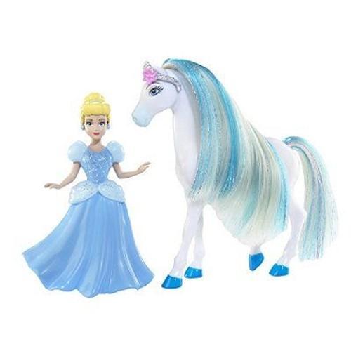 Princesses disney figurines mini princesse et cheval cendrillon - Princesse cheval ...