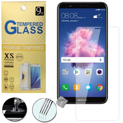 film de protection vitre verre trempe transparent pour huawei p smart. Black Bedroom Furniture Sets. Home Design Ideas