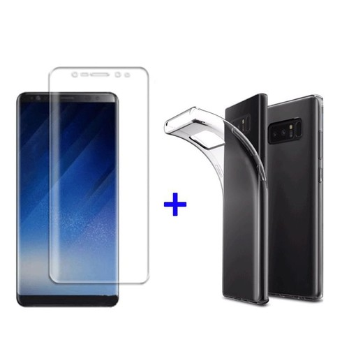 film incurv int gral total samsung galaxy note 8 coque silicone transparente. Black Bedroom Furniture Sets. Home Design Ideas