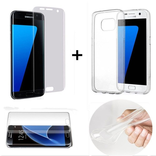 film verre tremp int gral total incurv samsung galaxy s7 edge transparent 1 coque silicone. Black Bedroom Furniture Sets. Home Design Ideas