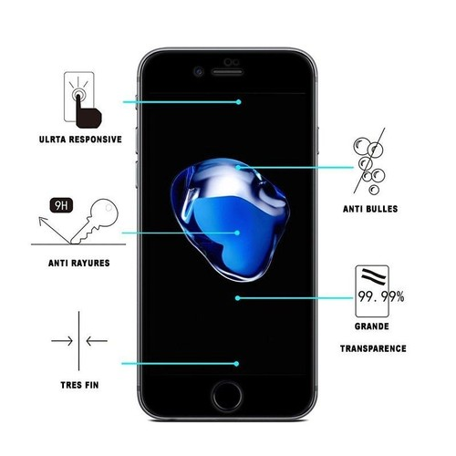 film verre tremp iphone 8 plus protection anti rayures ecran 5 5 pouces. Black Bedroom Furniture Sets. Home Design Ideas
