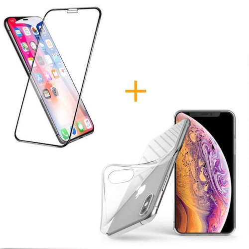 coque silicone iphone xr transparent verre trempe