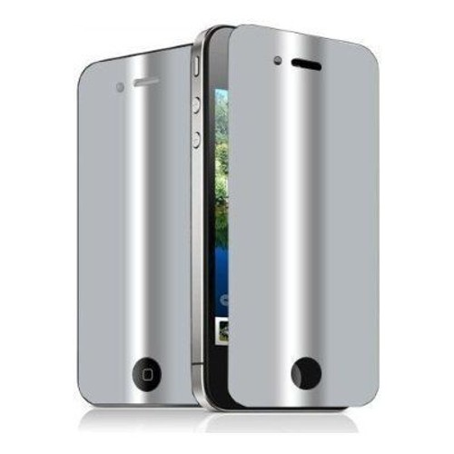 Films de protection cran effet miroir pour iphone 4 lot for Application miroir pour iphone