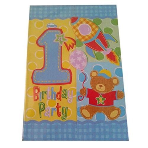 First Birthday Invitations Boy Achat Vente De Jouet Rakuten