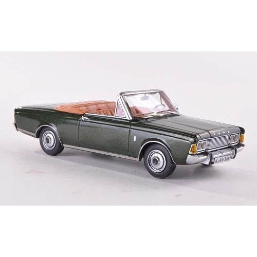 ford taunus p7b 26m cabriolet allemand metallic vert fonc 1970 voiture miniature. Black Bedroom Furniture Sets. Home Design Ideas