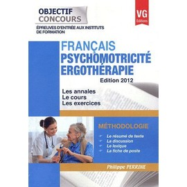 Fran�ais Psychomotricit� Ergoth�rapie de Philippe Perrine