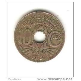 piece de monnaie trouee