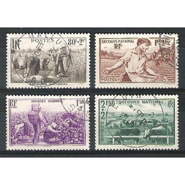 France, 1940, Au Profit Du Secours National, N�466 � 469, Oblit�r�s.