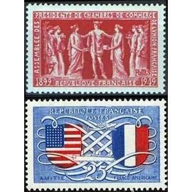 France 1949, Tr�s Beaux Exemplaires Yvert 840 Amiti� Franco-Am�ricaine, Et 849 Assembl�e Des Pr�sidents De Chambres De Commerce De L'union Fran�aise, Neufs** Luxe
