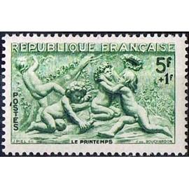 France 1949, Tr�s Bel Exemplaire Yvert 859, Les Quatre Saisons Par Edm�e Bouchardon Le Printemps, Neuf** Luxe