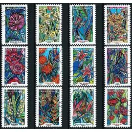 france 2016 belle s rie compl te timbres autocollants issue du carnet fleurs foison belle. Black Bedroom Furniture Sets. Home Design Ideas