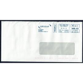 France Ema Empreinte Postmark Sur Enveloppe Urssaf Metz