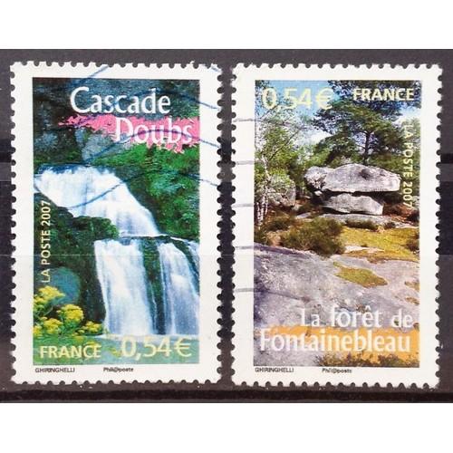 4e363f0670 france-la-france-a-voir-cascade-doubs-n-4015-foret-de -fontainebleau-n-4016-obl-annee-2007-n16460-1120521181_L.jpg