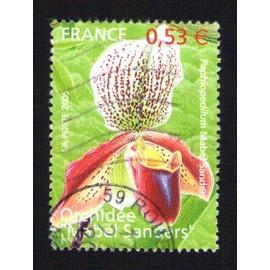 France Oblit�r� Dont Ronde Used Stamp Orchid�e Mabel Sanders 2005 Y&t 3763