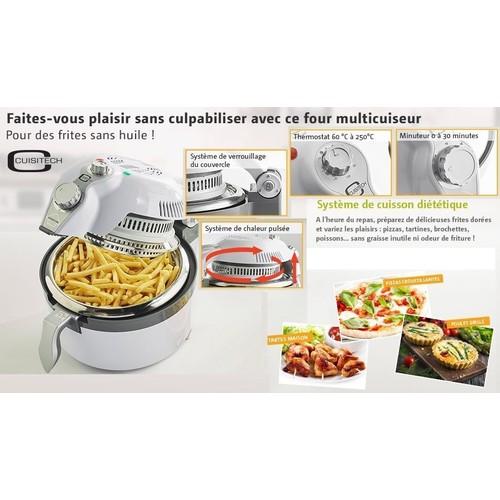 Friteuse a air four multicuiseur sans huile sans graisse cuisichef 987 32 - Cuiseur frites sans huile ...