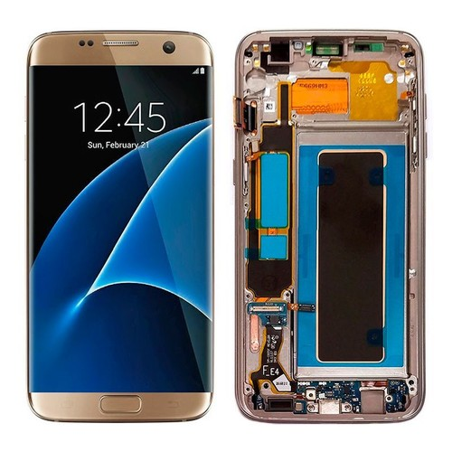 full lcd display tactile ecran frame for samsung galaxy s7 edge sm g935 or. Black Bedroom Furniture Sets. Home Design Ideas