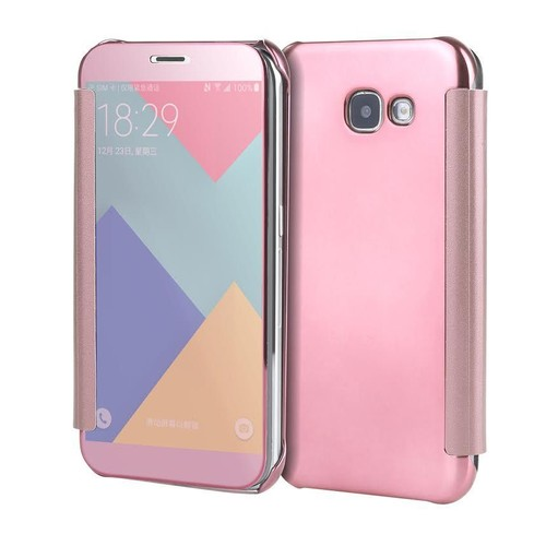 galaxy a5 2017 coque etui housse flip cover view rose pas cher. Black Bedroom Furniture Sets. Home Design Ideas