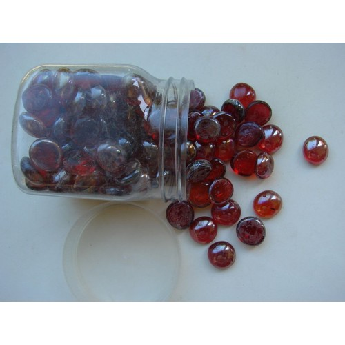 Galet de verre rouge en pot ikea achat et vente - Ikea pot en verre ...