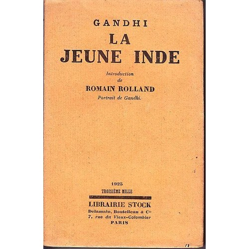 la jeune inde 1919 1922 de gandhi achat vente neuf occasion. Black Bedroom Furniture Sets. Home Design Ideas