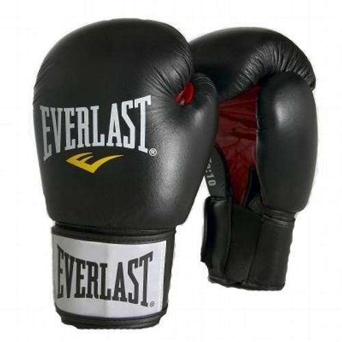 gant de boxe everlast fighter cuir noir 10 oz achat et vente. Black Bedroom Furniture Sets. Home Design Ideas