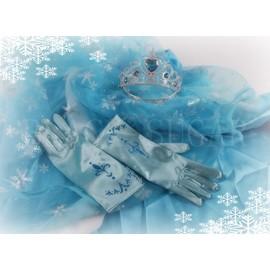 gants elsa bleu diadme assorti pour un parfait dguisement la reine des neiges enfant qualit envoie rapide noel fte look princesse elsa - Gants La Reine Des Neiges