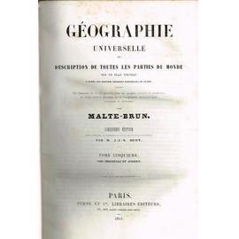 Geographie Universelle Tome 5 Asie Orientale Et Afrique de MALTE BRUN