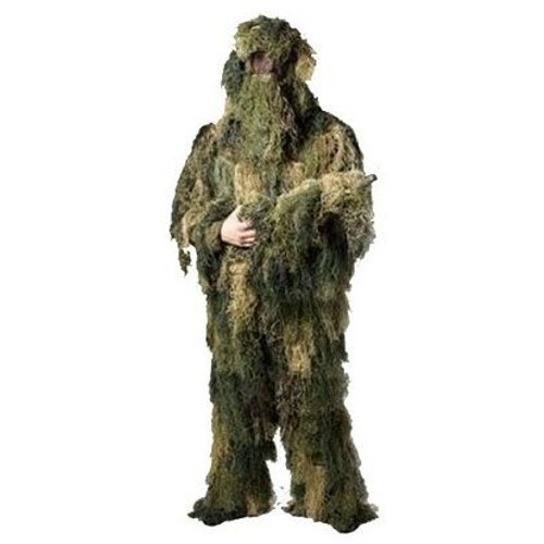 ghillie suit woodland polyester tenue de camouflage 4 pieces miltec 11962020 airsoft. Black Bedroom Furniture Sets. Home Design Ideas