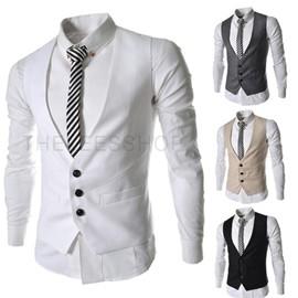 gilet de costume hommes mode gilet d 39 affaires sans manches de printemps. Black Bedroom Furniture Sets. Home Design Ideas