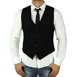 Gilet noir chemise cravate homme 11 couleurs ck03 t - Cravate noire homme ...