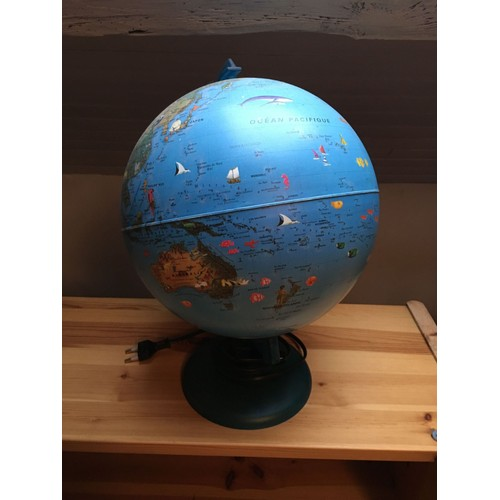 globe terrestre lampe pour enfant vintage achat et. Black Bedroom Furniture Sets. Home Design Ideas