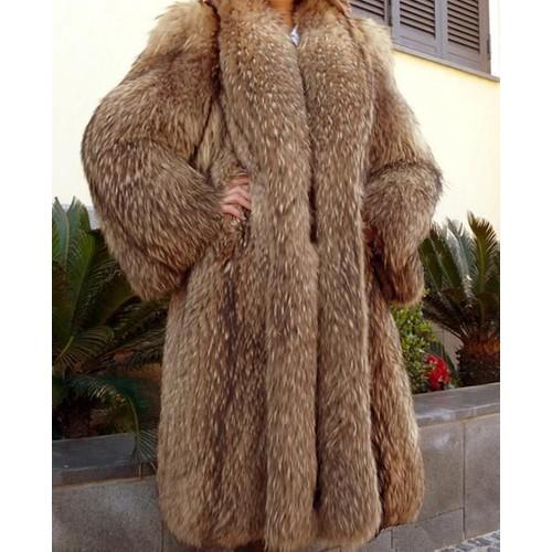 grand manteau long t42 marmotte manto fourrures madeleine. Black Bedroom Furniture Sets. Home Design Ideas