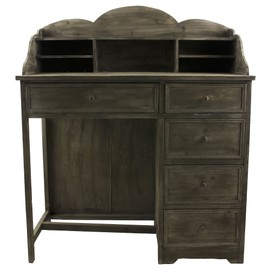 grand meuble bureau secretaire style ancien mobilier de chambre salon avec 5 tiroirs 5 casiers. Black Bedroom Furniture Sets. Home Design Ideas