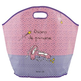 Grand sac de rangement jouets tr sors de princesse rose for Decoration derriere la porte