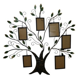 grande applique d coration murale arbre mural en fer marron 6 cadre photo album photo arbre. Black Bedroom Furniture Sets. Home Design Ideas