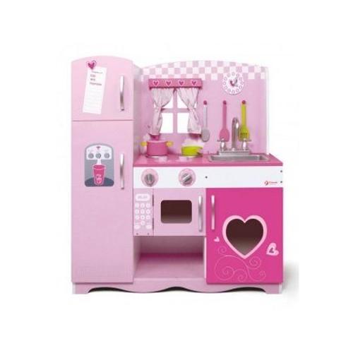 grande cuisine rose en bois enfant 85x30 5x91 cm d s 3 ans. Black Bedroom Furniture Sets. Home Design Ideas