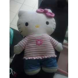 Grande Peluche Coussin Hello Kitty