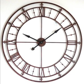 grande pendule de cuisine horloge g ante murale comtoise de gare style industriel diam tre 102cm. Black Bedroom Furniture Sets. Home Design Ideas