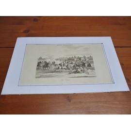 Gravure Sur Acier Xix�me(1835) / La Course