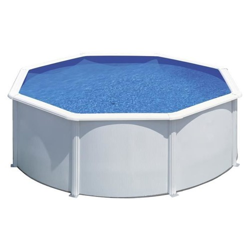 gre kit piscine hors sol ronde en acier wet 3 00x1 20 m liner bleu. Black Bedroom Furniture Sets. Home Design Ideas