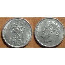 Grece = Pi�ce De 10 Drachmai (Apaxmai) De 1978 En Nickel.