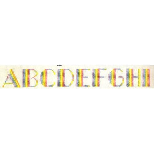 """Grille Point De Croix """"Abécédaire Arc En Ciel"""" - Achat et vente"""