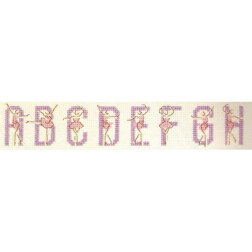 Grille point de croix ab c daire des ballerines achat - Grille abecedaire point de croix gratuit ...